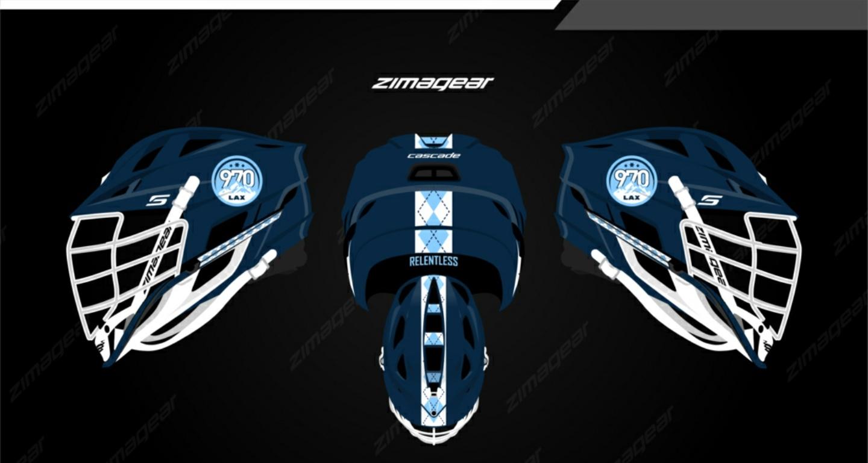 Custom 970 Lax Cascade Helmet